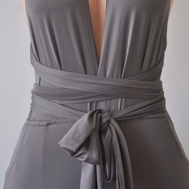 Grey elegant jumpsuit 4