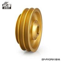 EPMAN Light Weight Aluminum Crank Shaft Pulley Wheel For Honda Civic 99 00 EK D Series