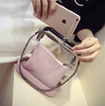 New Arrival Women Messenger Bag Transparent Waterproof Crossbody Bag Chain Jelly Hand Beach Bag HBC83