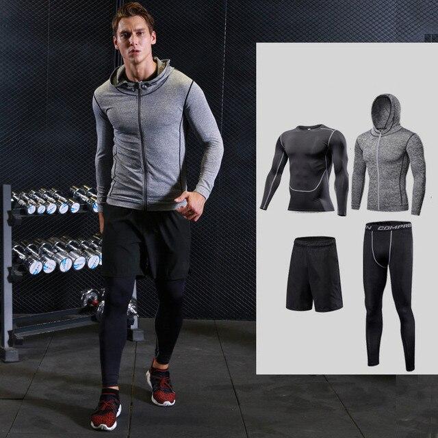 2017 de secado rápido corriendo conjuntos para hombres deportes baloncesto  ropa compression tights ropa interior gimnasio 1d91a6c496eb