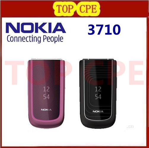 3710 original Nokia Flip 3710 unlocked Refurbished cell phone 3G 3 2MP Camera bluetooth free shipping