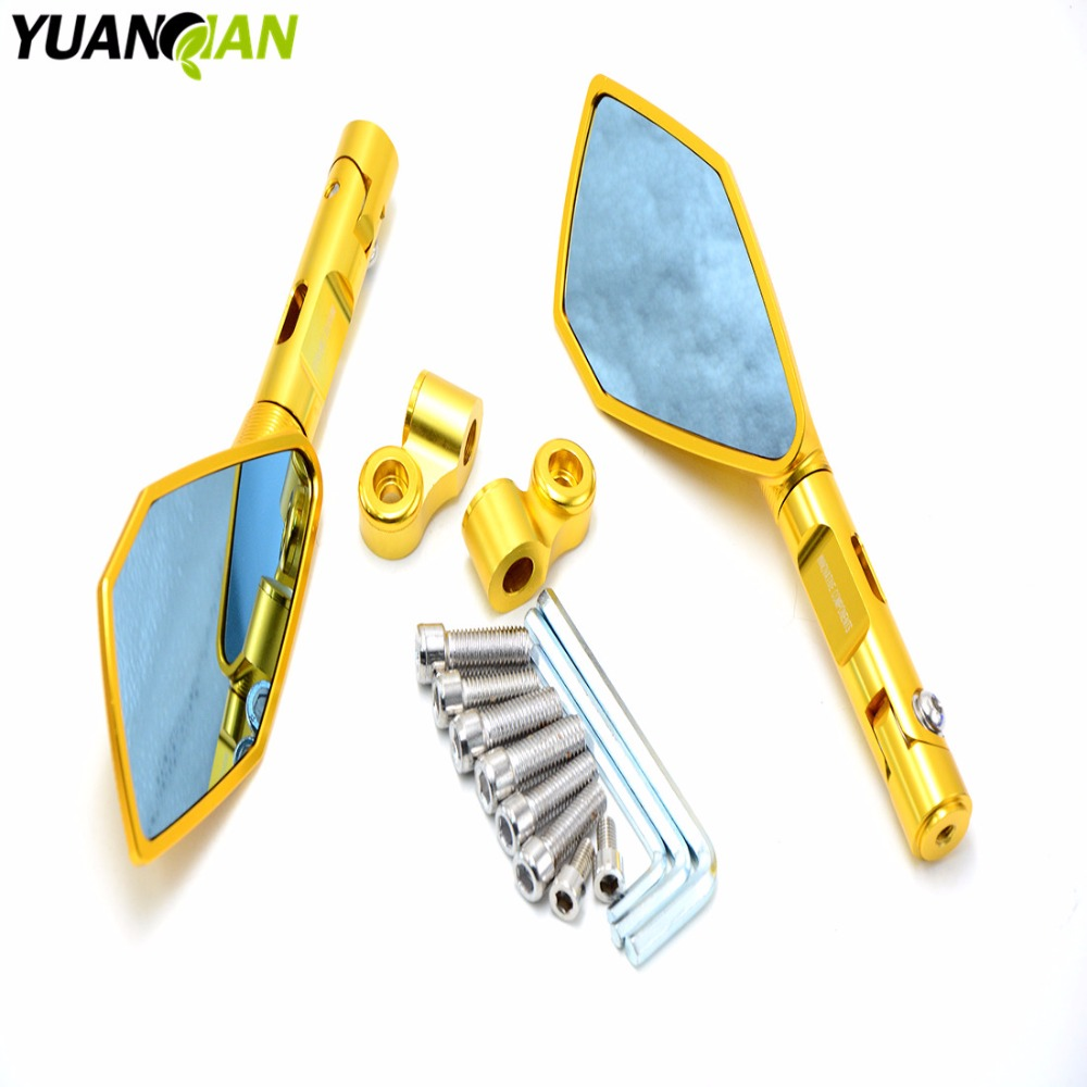 Rearview Mirrors For YAMAHA TMAX/T-MAX500 530 MT07 MT09 R3 R6 R25 R1 CNC Aluminum Mirror Motorcycle Scooter Accessories for yamaha r1 r6 fz zuma motorcycle cruiser freeshipping silver carbon fiber rearview mirrors