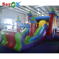 7x4m Colorful Inflatable Bouncy Castle Inflatable Slide Inflatable Kids Slide Inflatable Bouncer Slide Trampoline with Blower