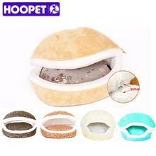 HOOPET теплая кошка кровать Дом гамбургер кровать disassemblability ветрозащитный Pet Puppy Гнездо основа скрывая бургер булочка для зимы