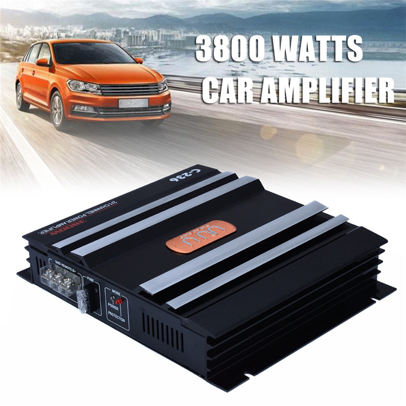 Mayitr 1pc C-236 3800W 12V Car Audio Amplifier 2 Channel Powerful Low Pass Filter Car Amplifier Bass AMP Aluminum цены