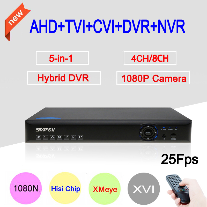 Blue-Ray Hi3521A Metal Case 4CH/8CH 25fps 1080P/1080N/960P/720P 6 in 1 XVI Hybrid CVI TVi NVR AHD CCTV DVR Free shipping gadinan 8ch ahdnh 1080n dvr analog ip ahd tvi cvi 5 in 1 dvr 4ch analog 1080p support 8 channel ahd 1080n 4ch 1080p playback