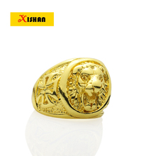 Hot Selling Gold color Nickle free Exquisite Engrave Lion head And Eagle Big Finger Jewelry Rings For Men And Women
