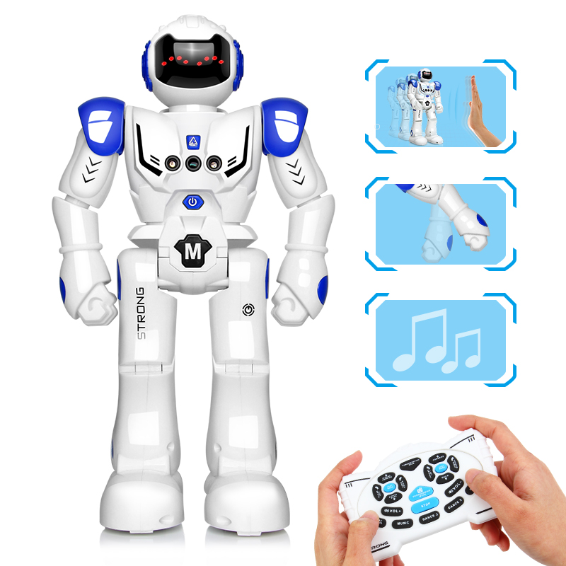 DODOELEPHANT RC Smart Robot Remote Control Robot Toy Action Figure With Gesture Function Toy For Boys Children Birthday Gift-in RC Robot from Toys & Hobbies
