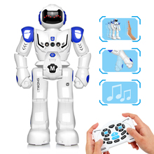 DODOELEPHANT RC Smart Robot Remote Control Robot Toy Action Figure With Gesture Function Toy For Boys Children Birthday Gift jxd 1016a kib robot intelligent balance rc robot wheelbarrow dancing drive box gesture battle action electric toy gift