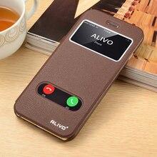D'origine Baseus Laconique Fenêtre Flip Étui En Cuir Pour iPhone 6 6 S Ultra Mince Smart Sommeil Téléphone Cas Pour l'iphone 6 4.7 # VA