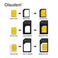 4 en 1 nano sim card adaptadores micro sim adaptadores de tarjeta sim estándar adaptador expulsa el pin para el iphone 4 4s 5 6 6 s todos los teléfonos sadt108
