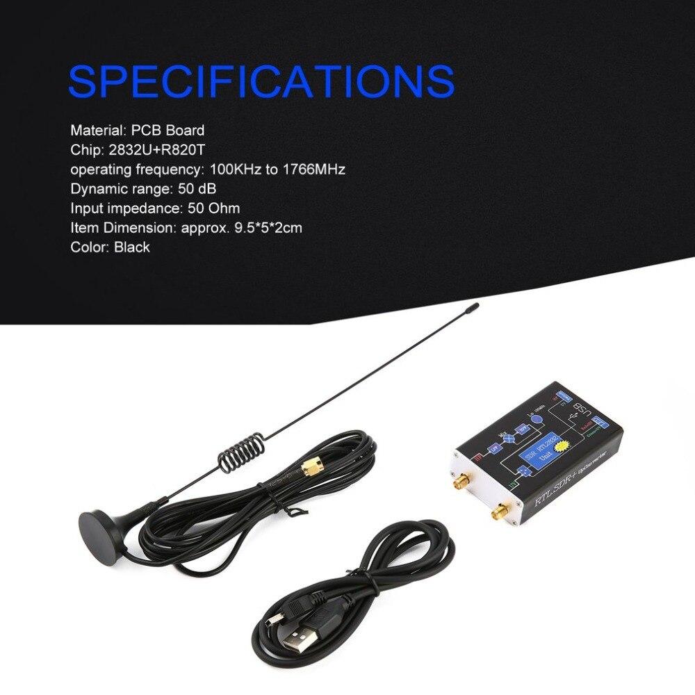 Récepteur Tuner Radio 2832U + R820T 100 KHz-1.7 GHz bande complète RTL. SDR Upconverter récepteur Tuner USB livraison directe à chaud