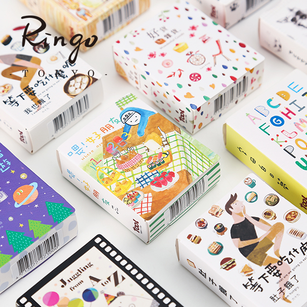 TAIWAN Tool Album Diary Decoration DIY Color Japanese Paper Tape 5PCS