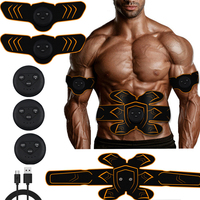 Abdominal Machine Vibration Fitness Massager Muscle Stimulator Slimming Belt ABS EMS Trainer Weight Loss Body Building Home Gym