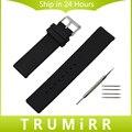 Borracha de silicone watch band + ferramenta para ck calvin klein pulso cinta de Aço Inoxidável Fecho Pulseira Preto Branco 16mm 18mm 20mm 22mm