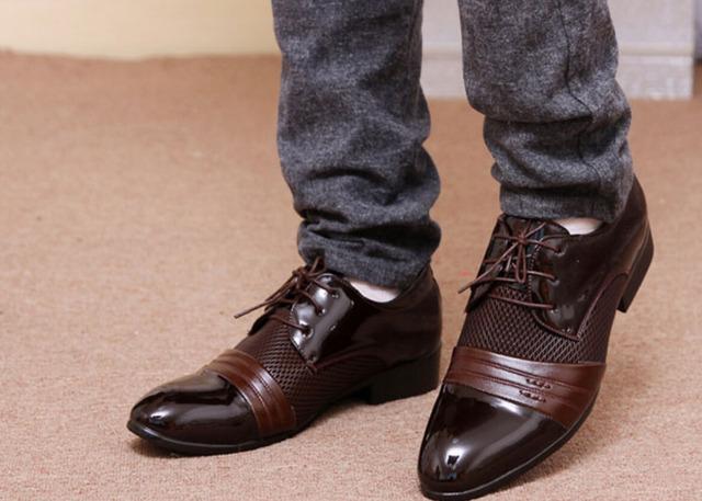 De gran tamaño 47 Zapatos planos de los hombres chaussure homme 2016 moda caliente inglaterra hombres DE LA PU zapatos planos zapatos hombre hombres zapatos de cuero