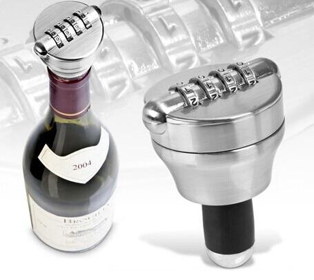 Zinc Alloy Bottle Password Lock Combination Lock Wine Stopper Vacuum Plug Device Preservation For Furniture Hardware цена 2017