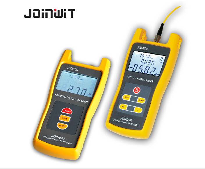 Handheld High precision Optical Power Meter JW3208C + Light Red Source JW3109 Combination Tool Tester KitHandheld High precision Optical Power Meter JW3208C + Light Red Source JW3109 Combination Tool Tester Kit