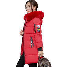 Ukraine 2017 New Winter Hooded Parka Women Down Cotton Coat Plus size Fur collar Female Long Jacket Padded Woman Outerwear w02