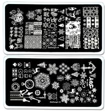 1Pcs Nail Art Image Stamp Template Plates Dream Catcher Feather Polish Stamping Manicure Image stamping nail art manicure tools.