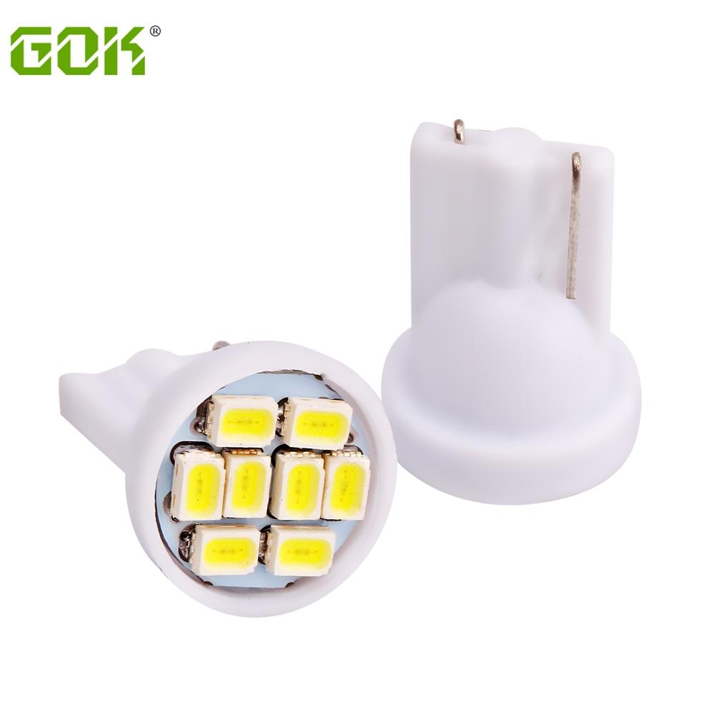 Livraison Gratuite 500 pièces Blanc t10 8SMD LED 1206/3020 w5w T10 8 LED Wedge Voiture Lumières Ampoules 912 921 t10 Voiture wedge parking lumière de dôme
