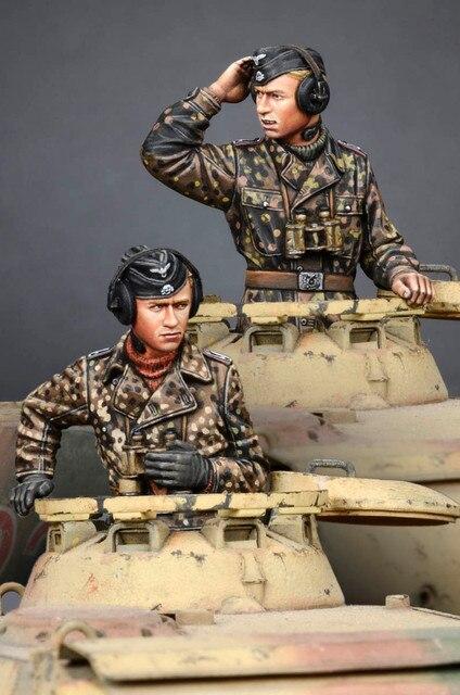 [tuskmodel] 1 35 scale resin model figures kit WW2 WSS Panzer Commander Set 1