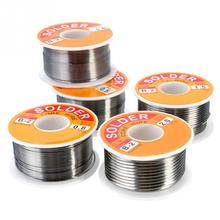 NEW 100g 0.6/0.8/1/1.2 63/37 FLUX 2.0% 45FT Tin Lead Wire Melt Rosin Core Solder Soldering Roll No-clean