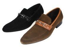 Мода черный/коричневый замши квартиры мужчины платье обувь из натуральной кожи на открытом воздухе повседневная обувь мужская летняя обувь с