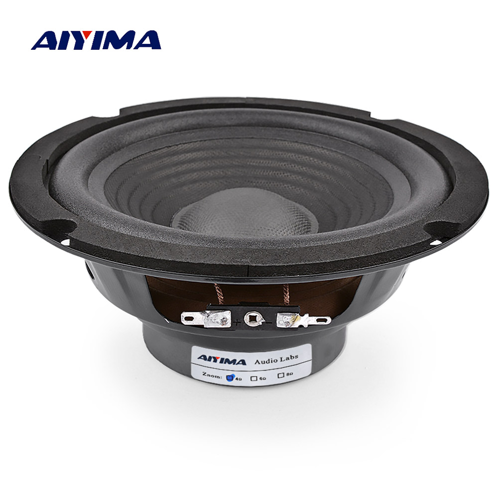 AIYIMA 1Pc 6.5 Inch Midrange Bass Speaker 4 Ohm 150W Audio Music Speakers Woofer LoudSpeaker For Home Theater Ses Sistemi