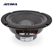 Aiyima 1pc 6.5インチミッドレンジ低音スピーカー4オーム150ワットオーディオ音楽スピーカーウーファースピーカーホームシアター用ses sistemi