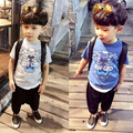 1PC/LOT cotton tiger pattern Newdespicable boys clothes girls nova shirts Head Design T shirt Kids Short Sleeve Tops cotton Tees
