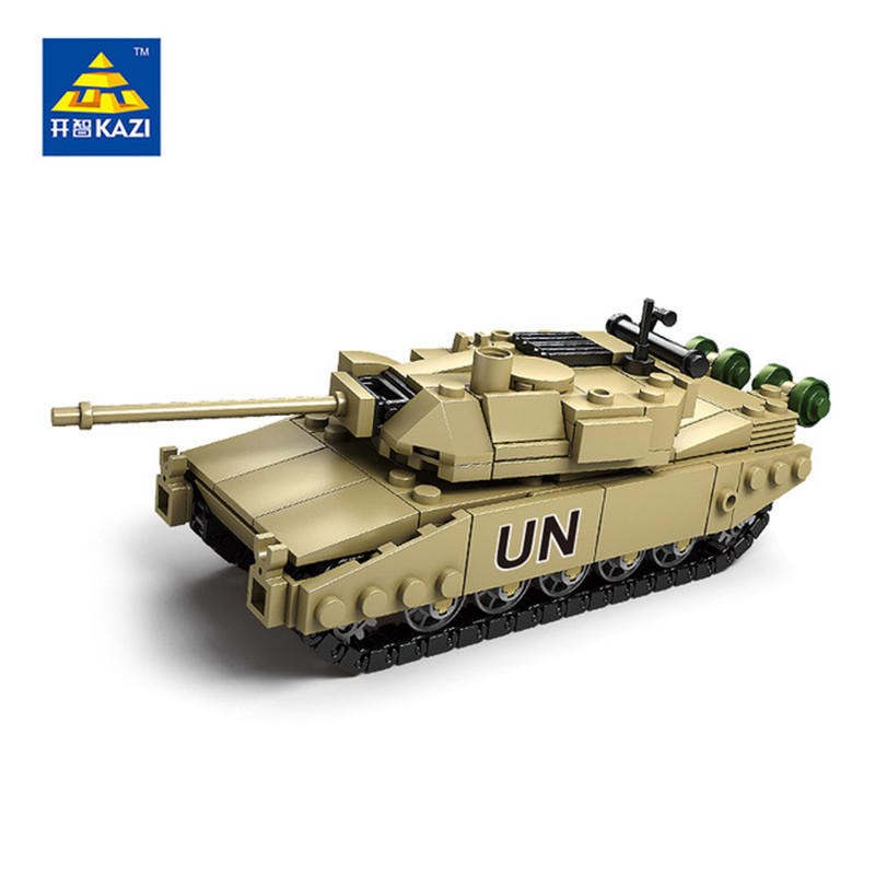 KAZI Military Building Blocks 4 Style DIY Army Classic War Tank Bricks Toys Set Christmas Gifts For Kids Compatible With Legoe kazi 228pcs military ship model building blocks kids toys imitation gun weapon equipment technic designer toys for kid