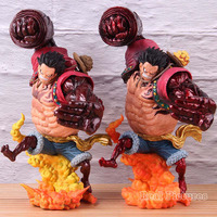 One Piece Figure Action Monkey D Luffy Gear Fourth Kong Gun PVC Collectible Model Toy Red Crimson Color