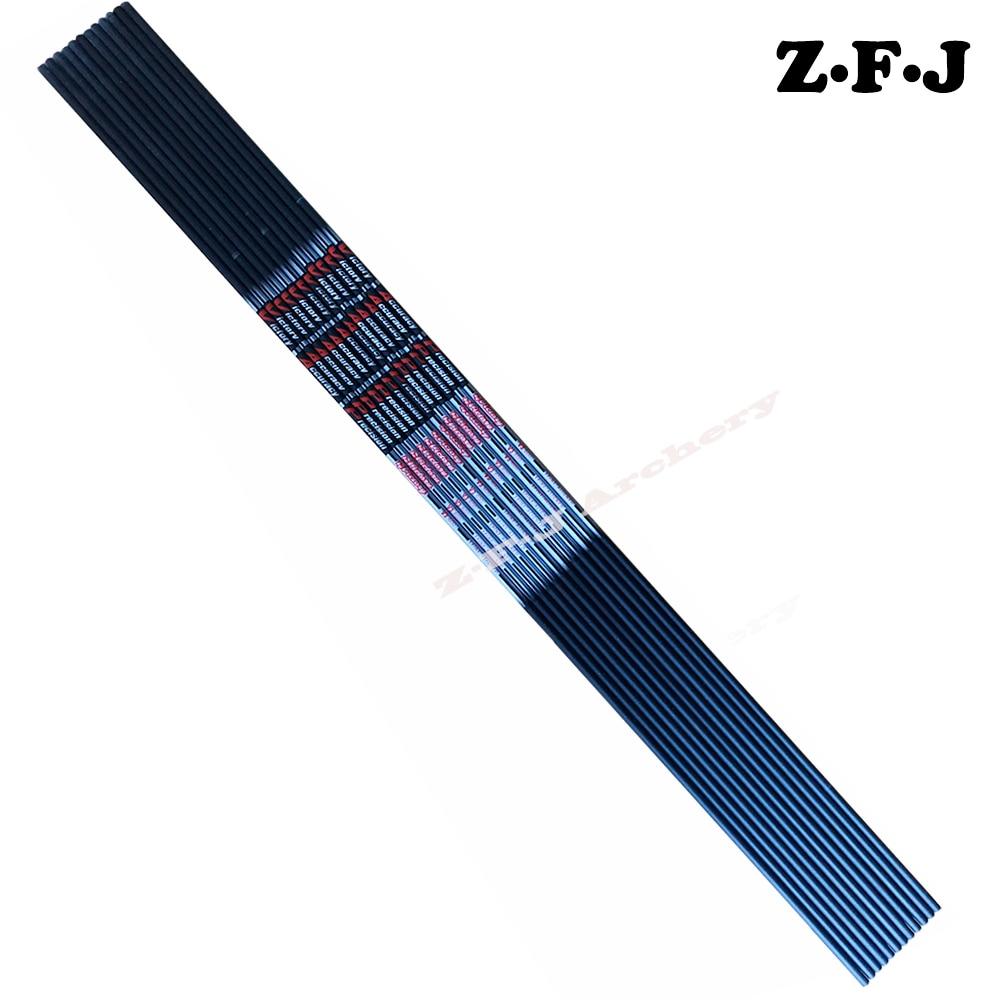 12pcs V3 V6 Pure Carbon Arrow Shafts Spine400 600 700 800 900 ID 4 2mm OD