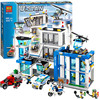 Bela 10424 890pcs City Police Station Motorbike Helicopter Model Building Kits Compatible Lego City 3D Blocks