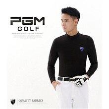 Clothing Shirt Golf PGM Winter Black White Nylon Men Gray Autumn Men's Keep-Warm Long-Sleeved