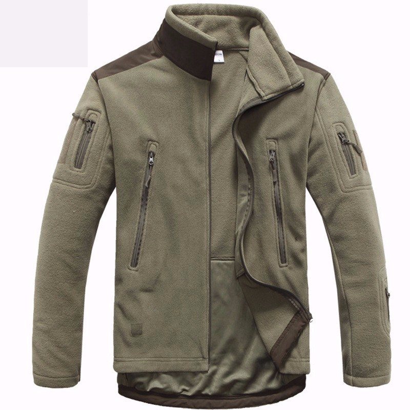 Outdoor Tactical Combat Training Fleece Polar Jacket Men Military Sports Camping Hunting Thermal Coats Male Shark Skin Clothes