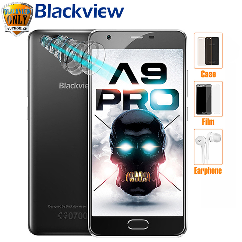 Blackview A9 PRO Mobile phone MT6737 Quad Core Dual Rear Cameras Android 7.0 <font><b>Smartphone</b></font> 5.0 &#8221;HD <font><b>2GB</b></font> <font><b>RAM</b></font> 16GB ROM <font><b>4G</b></font> <font><b>SmartPhone</b></font>