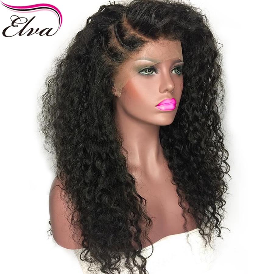Elva Hair 250 Density 360 Lace Frontal Wigs For Black Women Deep Curly Brazilian Hair Wig
