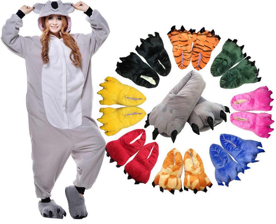 28 Стиль животных Косплэй костюма взрослых Пижама Panda кролик медведь  кошка Пингвин пижамы с мягкой обувь f93aae9b3c6c4