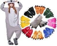 28 Style Animal Onesie Cosplay Costume Adult Pajamas Panda Rabbit Bear Cat Penguin Pyjamas with Soft Paw Shoe
