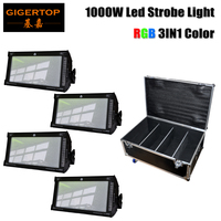 Free shipping 4 Unit RGB Led 1000W Strobe Bar Stage Lighting Same White Light for Xmas party concert stage Roadcase 4in1 Pack