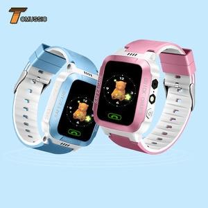 Image 2 - Tomu crianças relógio inteligente telefone y21s remoto da câmera tela de toque chamada sos anti lost lbs localização rastreador para crianças relógio de pulso seguro