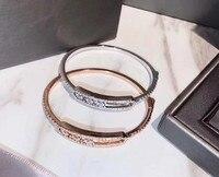 Hot brand 100% 925 Sterling Silver Move bracelet 3 moving stone For Women girls rose gold bracelete masculino France Jewelry
