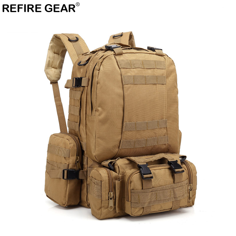Refire Gear Outdoor Tactical Camouflage Backpack Multi-function Large Capacity Backpack  ...