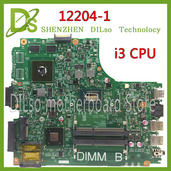 KEFU 12204-1 for dell  INSPIRON 3421 laptop motherboard 12204-1 dell motherboard i3 CPU orginal Test motherboard