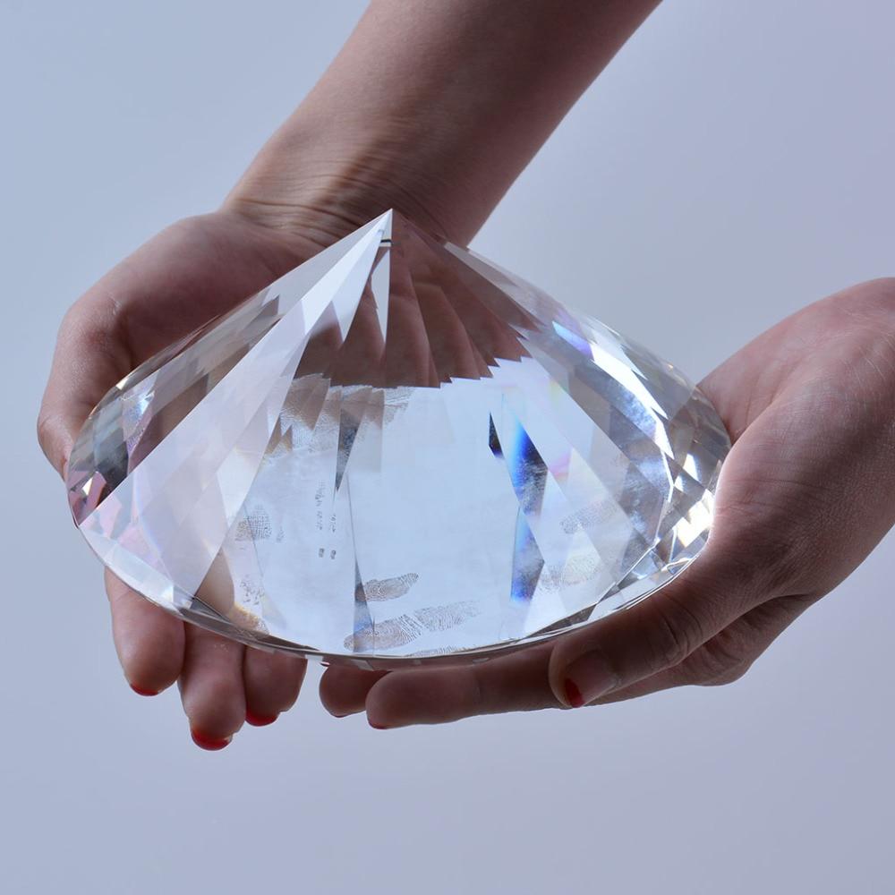 Loď z USA Clear K9 150mm Crystal Diamond Paper Paper Paper Ozdoby Místo Místo Dekorace Svatební laskavosti NOVINKA