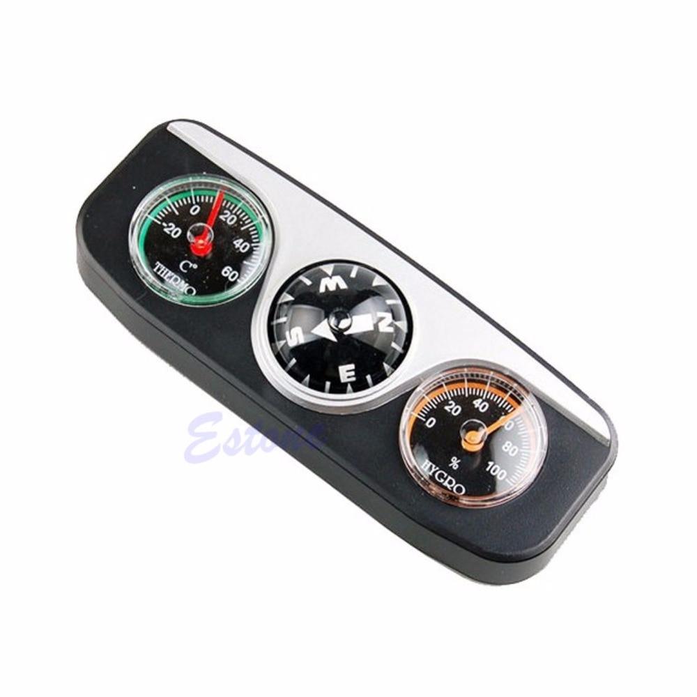 3in1 руководство мяч автомобилей Лодка транспорт auto навигации Компасы термометр hygrometer-p101