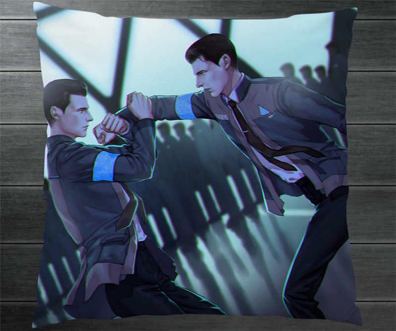 PS4 Jogo Detroit: Se Tornar Humano Connor RK800 Fanart Dois Lados Abraça O Travesseiro Caso Capa de Almofada Fronhas Coleção Cosplay P5