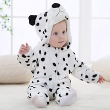 0-2 years old winter baby boys girls romper  animal cartoon style newborn clothes onesie soft cute flannel babies clothing 2017